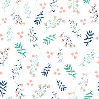 Motif sans soudure de fond de jolies feuilles