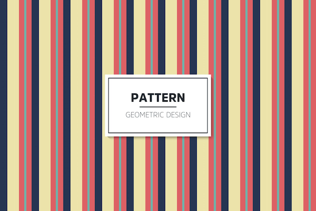 Motif sans soudure géométrique coloré linéaire