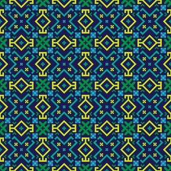Motif sans soudure géométrique lumineux dans le style bulgare.