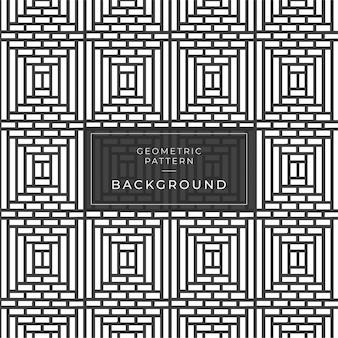 Motif sans soudure géométrique noir et blanc avec des rayures de la ligne zigzag.