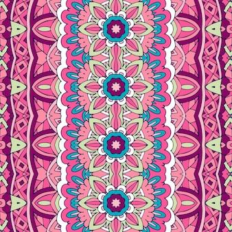Motif sans soudure géométrique tribal ethnique coloré