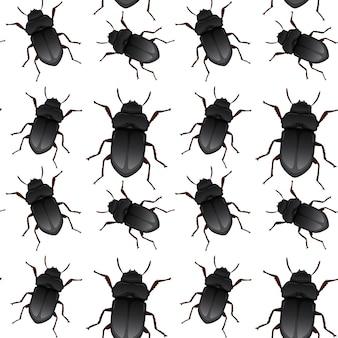 Motif sans soudure de scarabée