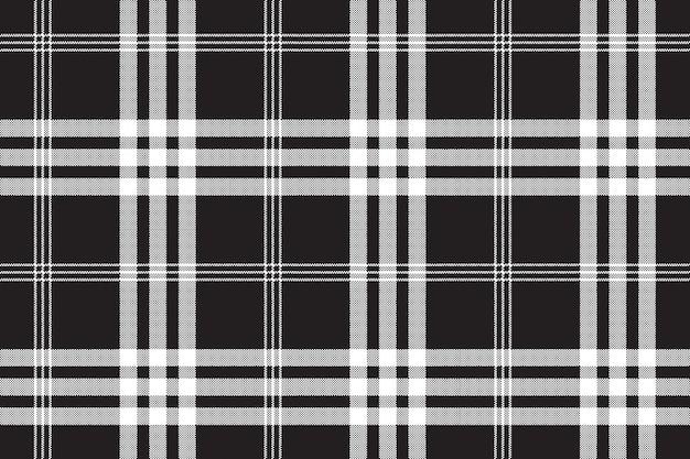 Motif sans soudure de texture pixel tissu carré noir et blanc