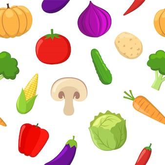 Motif de seamlees de légumes