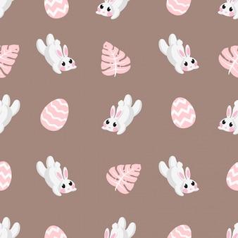 Motif de sejours mignons de lapin