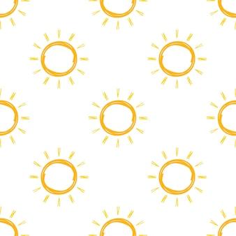 Motif de soleil réaliste pour la conception météorologique sur fond blanc. illustration vectorielle.