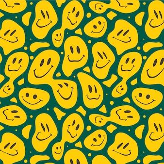 Motif de sourires effrayants déformés