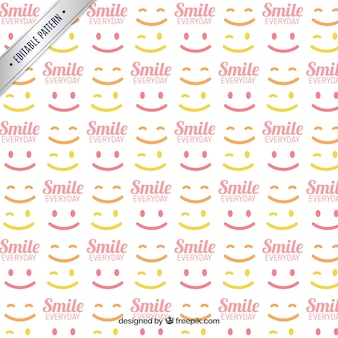 Motif avec des sourires