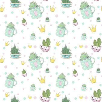 Motif succulent