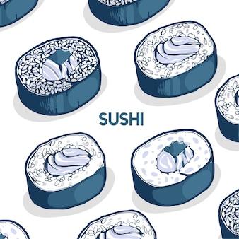 Motif sushi