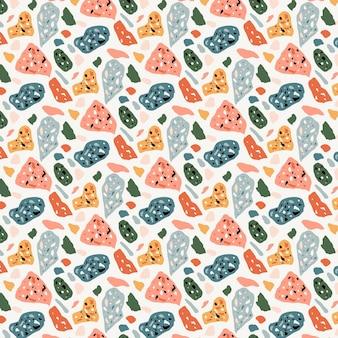 Motif de terrazzo coloré plat
