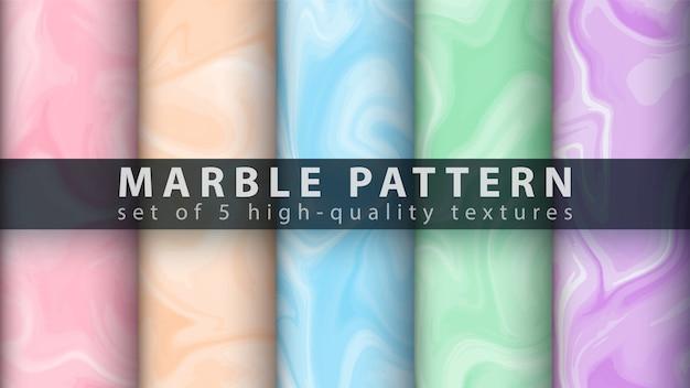 Motif de texture en marbre - définir cinq éléments