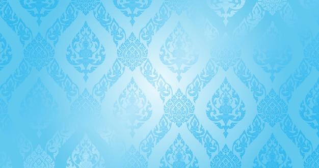 Motif thaïlandais fond bleu clair