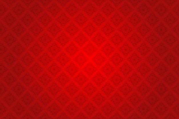 Motif thaïlandais en soie rouge