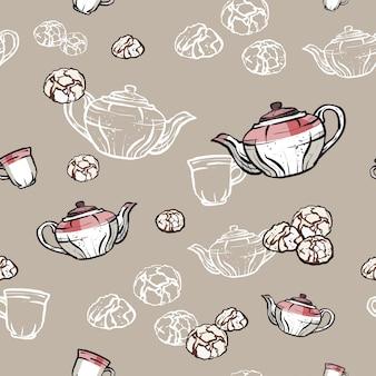 Motif de thé