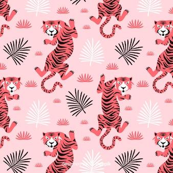 Motif de tigre dessiné à la main