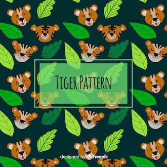 Motif de tigre drôle