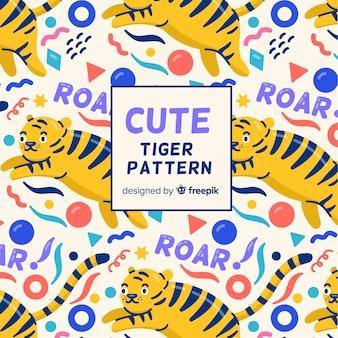 Motif de tigre de formes géométriques