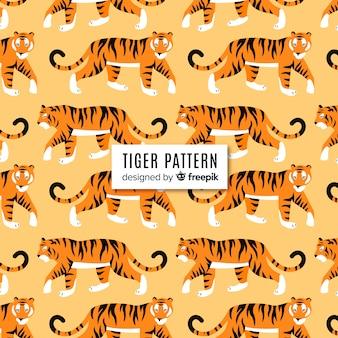Motif de tigre marchant