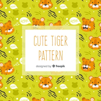 Motif de tigre mignon