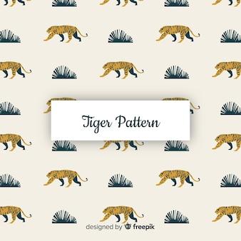 Motif de tigre original avec design plat