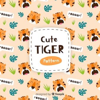 Motif de tigre rugissant