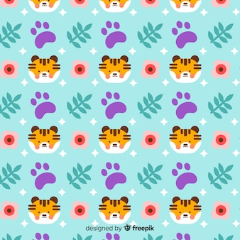 Motif de tigres et de photos