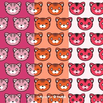 Motif de tigres