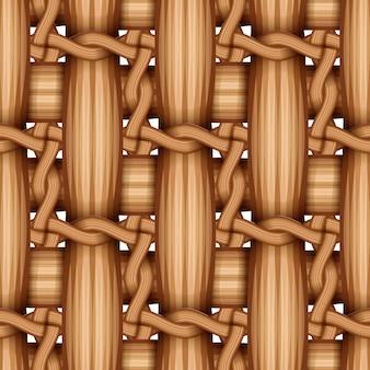 Motif de tissage en bois de bambou, surface de texture en osier naturel.