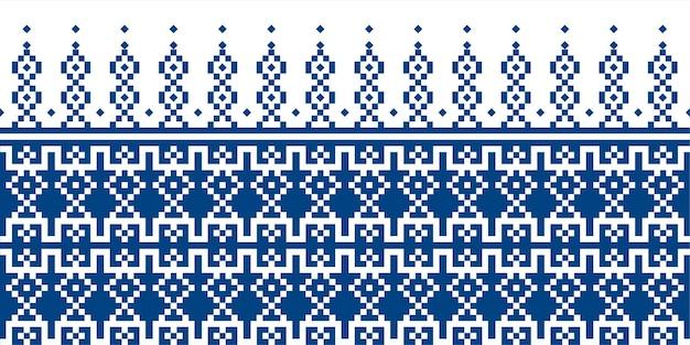 Motif de tissu sans couture répétant la conception avec des formes géométriques.