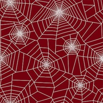 Motif de toile d'araignée. décoration d'halloween avec toile d'araignée. illustration vectorielle de toile d'araignée