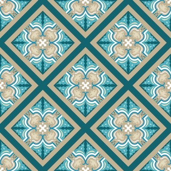 Motif traditionnel géométrique arabe coloré vectorielle continue.