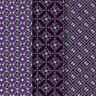 Motif transparent songket violet pastel