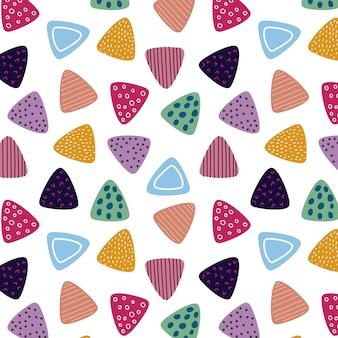 Motif triangle coloré