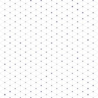 Motif de triangle avec des lignes et des points de connexion