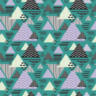 Motif de triangle memphis