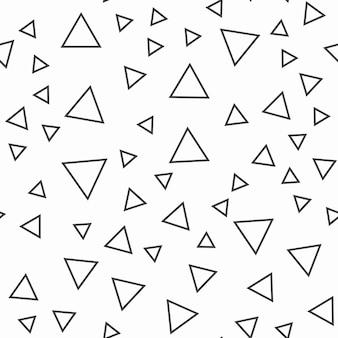 Motif de triangles aléatoires, abstrait. illustration simple géométrique. style créatif et luxueux