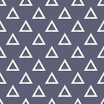 Motif de triangles rétro, arrière-plan géométrique abstrait dans le style des années 80 et 90. illustration simple géométrique