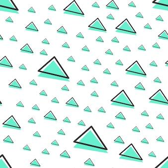 Motif triangulaire aléatoire, arrière-plan géométrique abstrait dans un style rétro des années 80 et 90. illustration géométrique colorée
