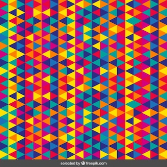 Motif triangulaire colorful