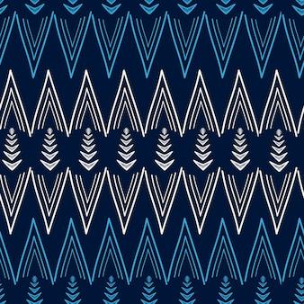 Motif tribal africain en zigzag avec main dessinée multicolore