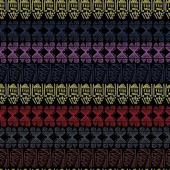 Motif tribal dessiné main avec motif batik de style indien