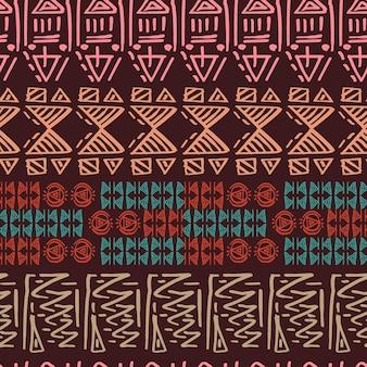 Motif tribal dessiné à la main