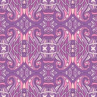 Motif tribal ethnique géométrique. modèle sans couture abstraite de lavande ornemental.
