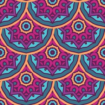 Motif tribal géométrique ethnique festif abstrait coloré