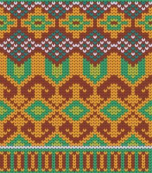 Motif tribal tricoté texture