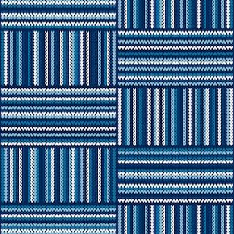 Motif tricoté à rayures abstraites