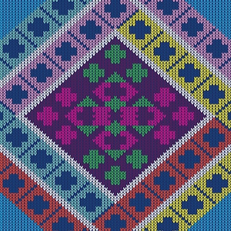 Motif tricoté texture