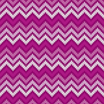 Motif tricoté traditionnel chevron abstrait fair isle. ornement sans couture pour la conception de pull