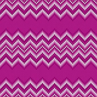 Motif tricoté traditionnel chevron abstrait